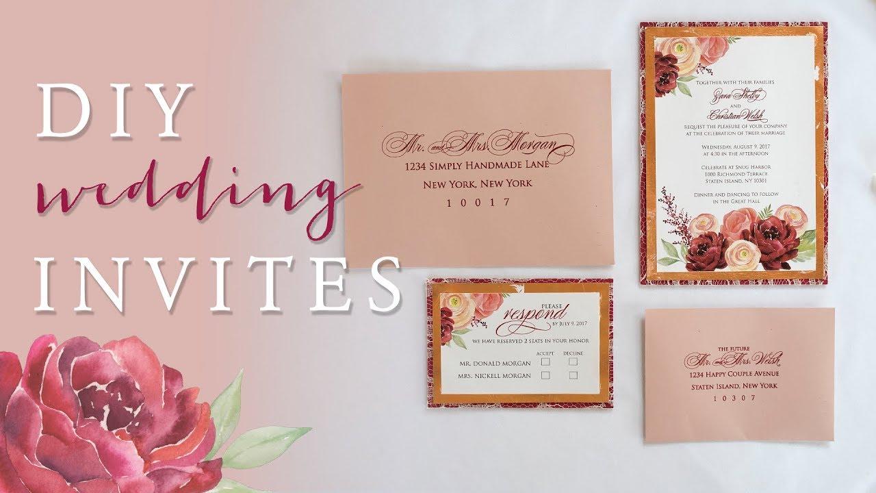 How To Make Wedding Invitation Card 7