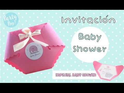 Como Hacer Una Invitacion Para Baby Shower Idea De Pañalito Party Pop