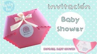 Invitacion de baby shower niña