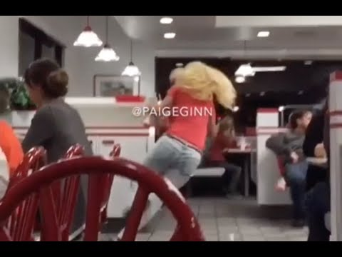 Girl Falls At In N Out Burger Milk Shake Explodes Youtube
