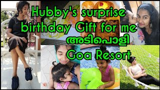 Goa vlog|Birthday gift from husband|Best Resort in Goa|Malayali youtuber|malayalam|Asvi