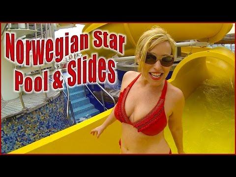 Norwegian Star Oasis Pool & Slides