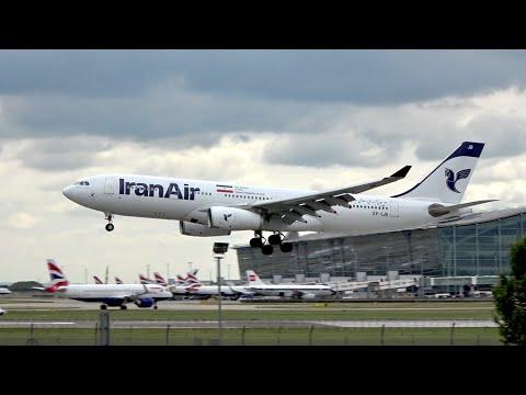 Iran Air Airbus A330-243 EP-IJB arrival at London Heathrow Airport LHR EGLL