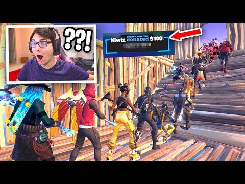 I Stream Sniped A Fortnite Fashion Show And Then Donated $100... (emotional)