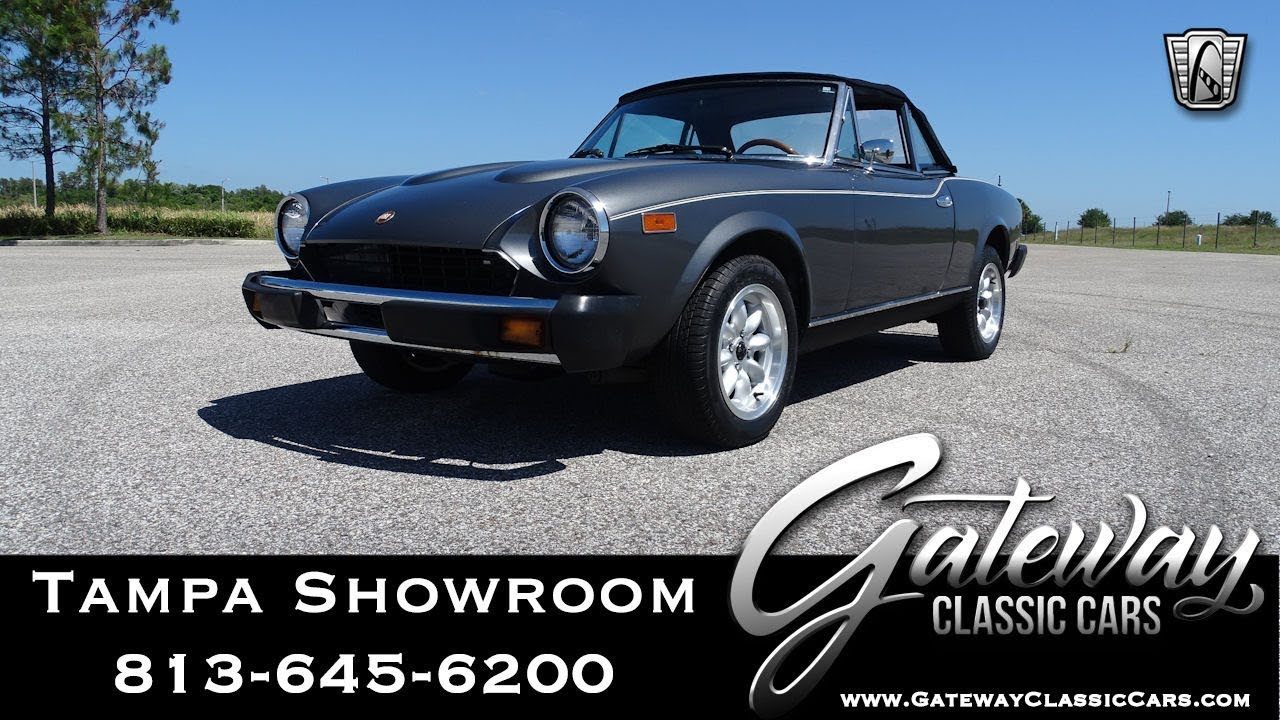 1979 Fiat Spider 2000 Gateway Classic Cars of Tampa Stock #1505