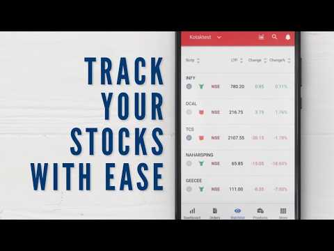 Kotak Stock Trader App - BSE, NSE, Nifty & Sensex - Apps on