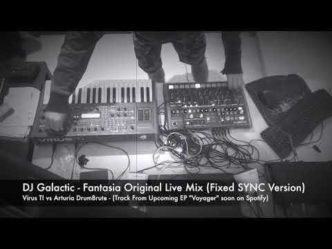 "DJ Galactic - Virus TI2 vs Arturia DrumBrute ""Fantasia"" (Live / Original Mix - SYNC Fixed)"
