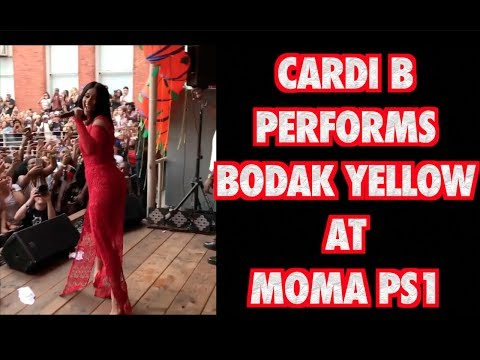 CARDI B PERFORMS BODAK YELLOW AT MOMA PS1