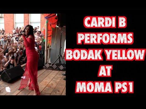 CARDI B PERFORMS BODAK YELLOW AT MOMA PS1