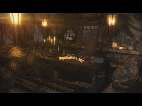 Pirate Ship Ambience - Captain's Cabin, Tropical Island Port, Bird Life | 1 Hour
