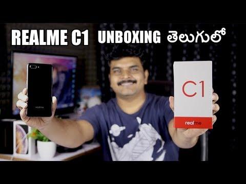 Realme C1 Unboxing & initial impressions ll in telugu ll