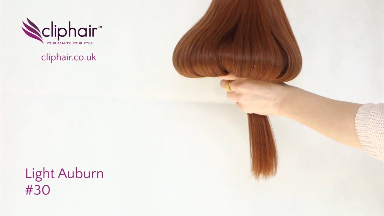 Shade Light Auburn 30 Hair Extensions Cliphair Extensions Youtube