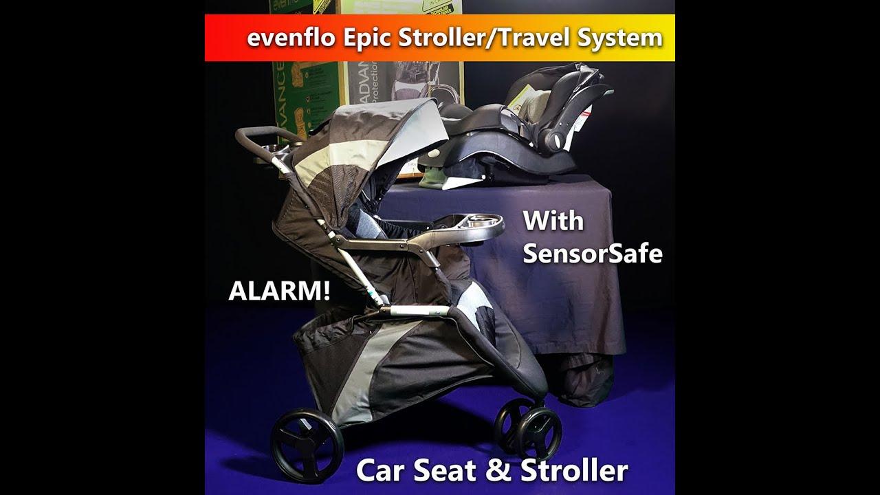 Evenflo Epic Stroller Travel System Including SensorSafe Alarm at ...
