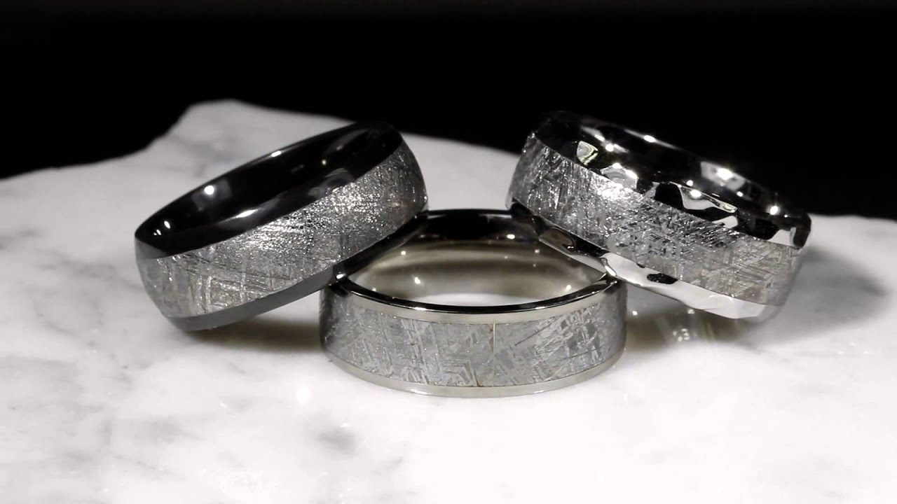 meteorite wedding bands - Meteorite Wedding Ring