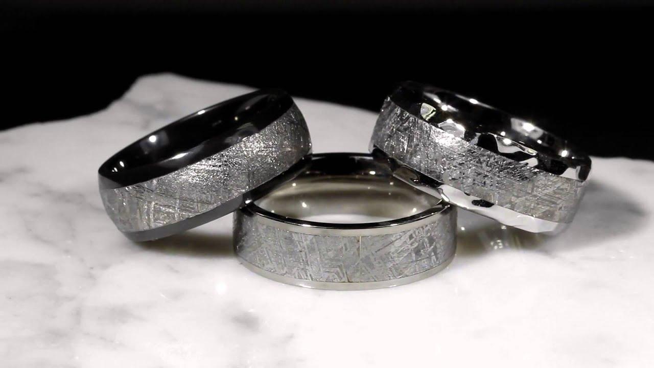 meteorite wedding bands - Meteorite Wedding Rings