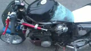 pocket bike xj 600 yamaha tuning burnout mini Bike 600cc 80 PS