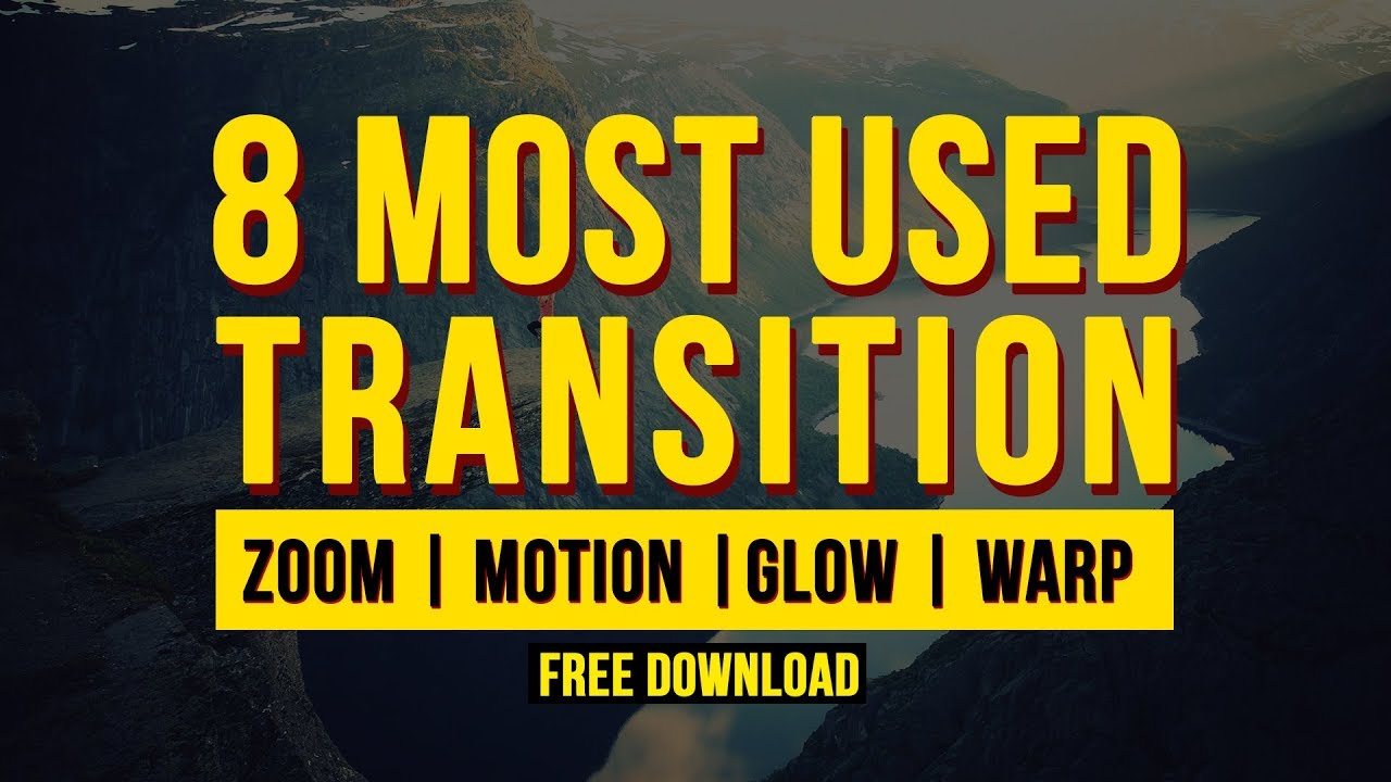 8 Most Used Transition preset in after effects | Free transition Preset  pack #2