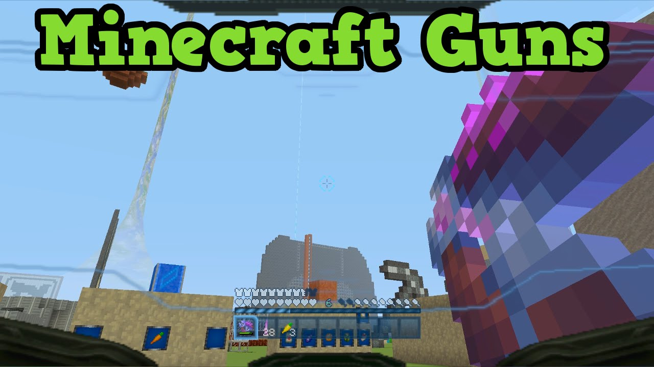 Could be added throuh a dlc. Minecraft Xbox 360 One How To Make Guns For Custom Maps Youtube