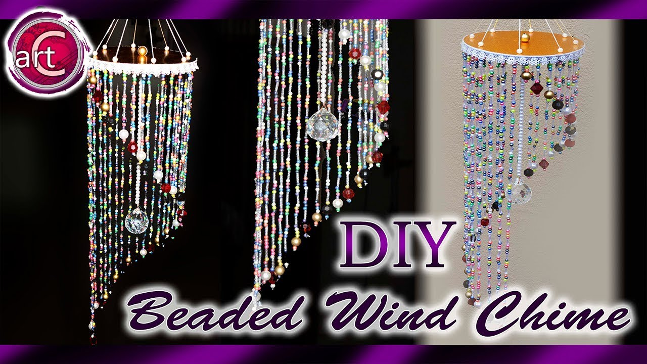 Beaded wind chime | Wall hanging | Art with Creativity 258