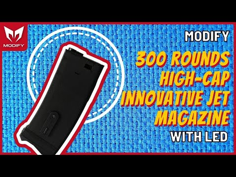 300 rounds High-Cap Innovative JET magazine with LED