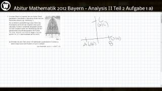 Abitur Mathematik 2012 Bayern - Analysis II Teil 2 Aufgabe 1a