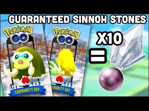 10 Guaranteed Sinnoh Stones for Community Day Pokemon GO thumbnail
