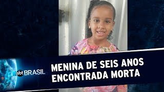 Menina de 6 anos é encontrada morta no centro do Rio de Janeiro   SBT Brasil (10/10/19)