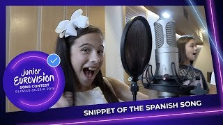 Listen to the first minute of Melani García's 'Marte'! - Spain 🇪🇸 - Junior Eurovision 2019