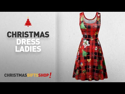 Top Christmas Dress Ladies Ideas: HUHOT Christmas Dresses for Women, Ladies Xmas Pullover Ugly Shift