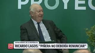 """Expresidente Lagos: """"La crisis no es del gobierno de Piñera, es una crisis del Estado"""""""