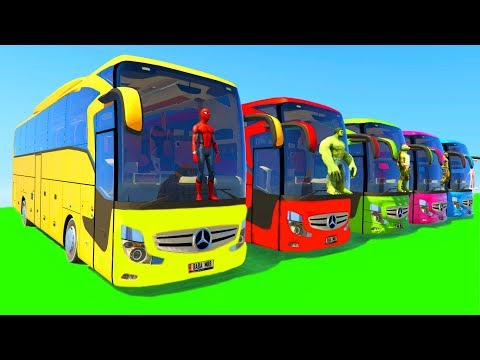 Learn Colors Big Bus for Children & Kids...
