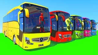 Learn Colors Big Bus for Children & Kids Fun Cartoon Animation with Nursery Rhymes Song
