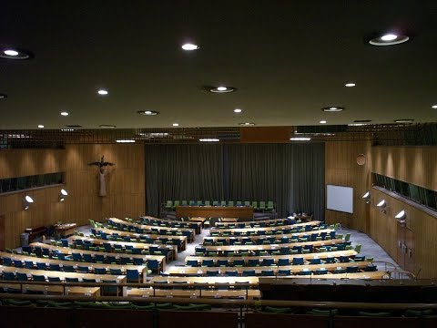 Inside the Trusteeship Council Room in the United Nations Building in New York City USA Part 2