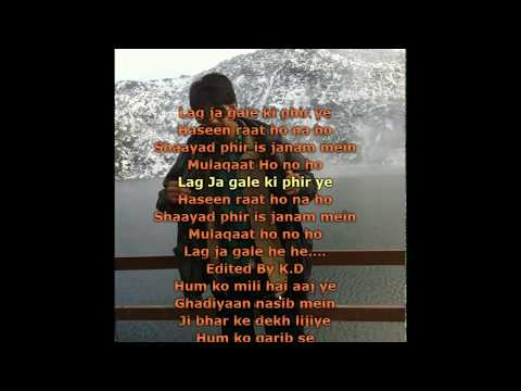Lag Jaa Gale (Sanam Puri) Karaoke with Lyrics