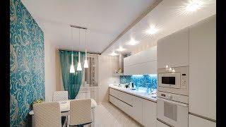 Какие натяжные потолки на кухне-студии мы можем установить?