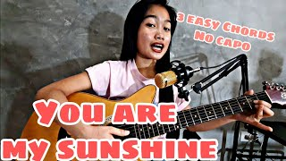 You are my sunshine  Guitar Tutorial - 3 Easy Chords