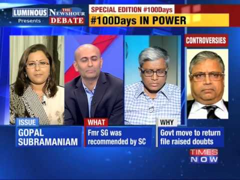 The Newshour Debate: Government's 100 Days report card - Part 1 (2nd September 2014)
