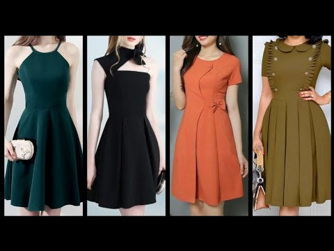 Latest And Beautiful Plain Skater Dresses Design Collection 2020
