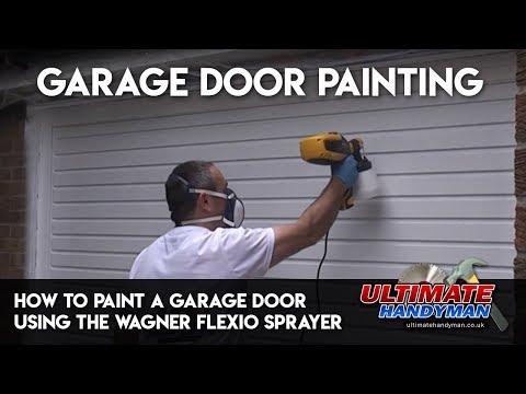 How to paint a garage door using the Wagner Flexio sprayer