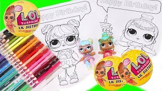 Speed Coloring LOL Surprise Babies & Color Changing Lil Sisters Blind Bag Toys and Dolls Fun