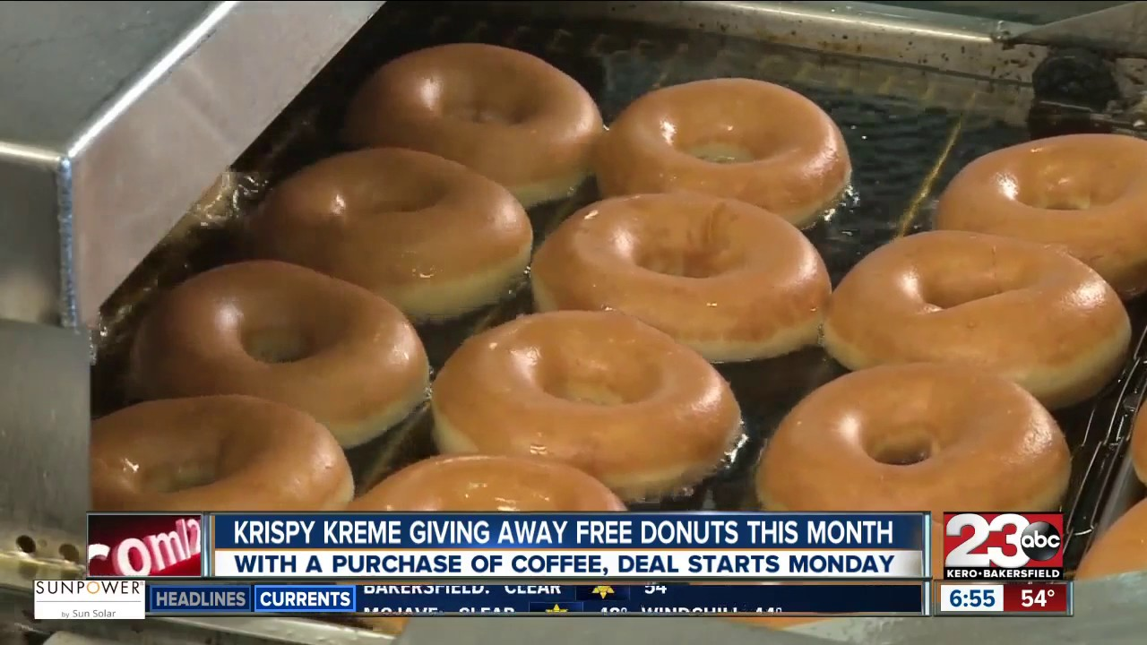 Krispy Kreme is giving away a dozen free donuts every Monday to ...