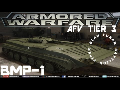 Armored Warfare.Tier 3,BMP-1 Soviet amphibious infantry fighting vehicle.