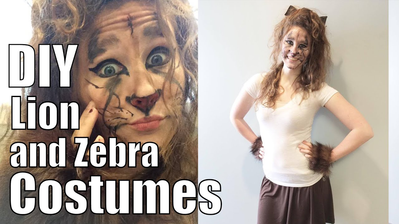 Diy Lion And Zebra Costumes Fashion Me Cute