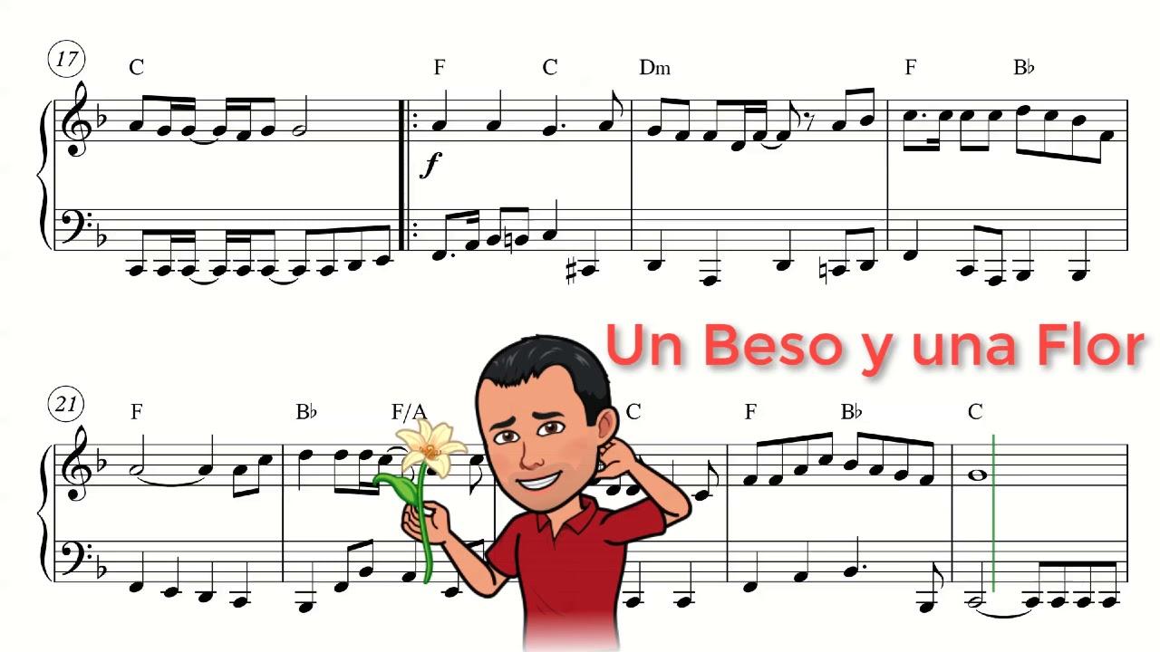 Nino Bravo Un Beso Y Una Flor Partitura Piano Youtube