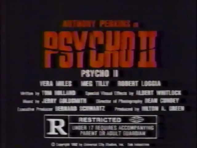 Psycho II TV trailer 1983