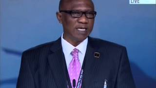 Rtd Major Albert Don-Chebie, Director General Ghana TV at Jalsa Salana UK 2014