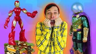 Игры гонки – Железный Человек и ролики из Машинок! - Новое видео для мальчиков в Автомастерской
