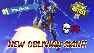 Fortnite Battle Royale - **NEW OBLIVION SKIN!! ** - 14 FRAG SOLO DEVASTATION!!