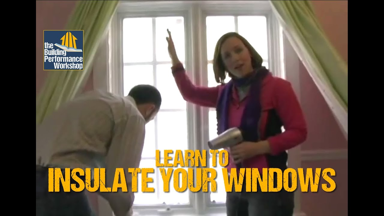 How To Weatherize Windows With Plastic Film Insulation  DIY Home  Improvement   YouTube