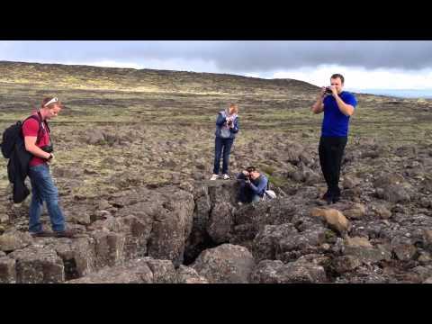 Going Inside the Thrihnukagigur Volcano near Reykjavik Iceland - July 5, 2012